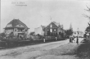 Geburtshaus Karl Leisners (siehe Pfeil)