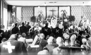 Gottesdienst auf Block 26 zu Ostern am 1. April 1945