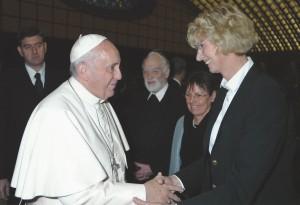 Papst Franziskus, Hans-Karl Seeger, Gabriele Latzel und Christa Bockholt