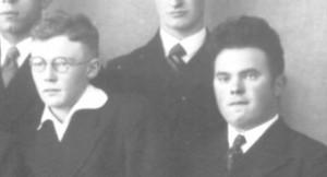 Karl Leisner und Gerd Siebers auf dem Abiturfoto 1934