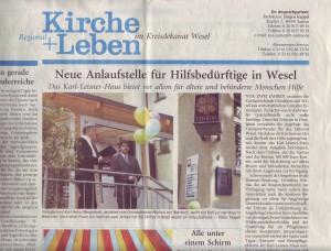 Foto Kappel in: Kirche + Leben vom 11. Juli 2004