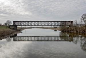 Griethausener Eisenbahnbrücke, Kleve | Rhein-km. 858