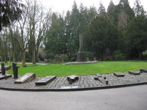 Kleve Friedhof Grabplatte