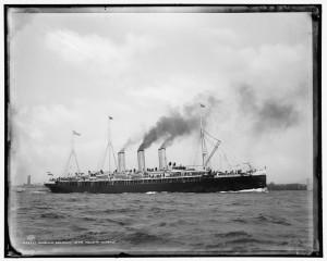 """Die """"Augusta Victoria"""" war von 1888 bis 1889 das größte deutsche Passagierschiff"""