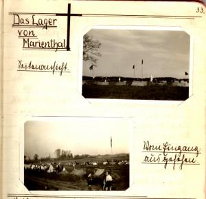 Das Lager von Marienthal – Seitenansicht – vom Eingang aus gesehen