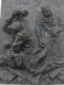 6. Station: Jesus wird ans Kreuz geschlagen